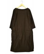 MHL(エムエイチエル)の古着「モールスキンブラウスワンピース」|ブラウン