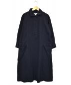 MHL(エムエイチエル)の古着「シャツワンピース」|ネイビー