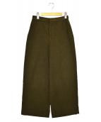 45rpm(フォーティファイブアールピーエム)の古着「モールサージワイドパンツ」|カーキ