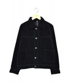 ()の古着「ベロアジャケット」|ブラック