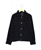 45R(フォーティファイブアール)の古着「ベロアジャケット」|ブラック