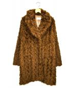 JULIE COGAM pour IENA(ジュリーコーガン イエナ)の古着「カーリーファーコート」|ブラウン