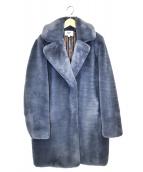 MKT studio(エムケイティ ストゥディオ)の古着「MARMOTファーコート」|ブルー