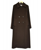 MaxMara(マックスマーラ)の古着「ウールダブルロングコート」|ブラウン