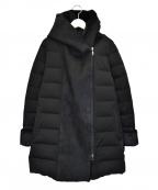 YOSOOU(ヨソオウ)の古着「ボアフーデッドコート」|ブラック