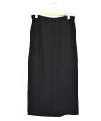 CHANEL BOUTIQUE(シャネル ブティック)の古着「ウールマキシロングスカート」|ブラック