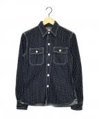 THE FLAT HEAD(ザ・フラットヘッド)の古着「ウォバッシュワークシャツ」|ネイビー