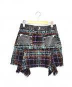 DIESEL()の古着「デニム切替スカート」|ブラック
