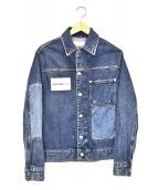 Calvin Klein Jeans(カルバンクラインジーンズ)の古着「パッチド1ポケットデニムジャケット」|インディゴ