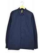 MANTLE(マントル)の古着「コ-ティングレギュラーシャツ」 ブルー