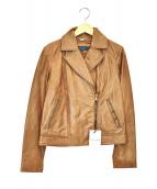 COLE HAAN(コールハーン)の古着「ライダースジャケット」|ブラウン