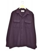 WACKO MARIA(ワコマリア)の古着「ウールオープンカラーシャツ」|ネイビー