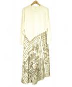 HERMES(エルメス)の古着「ツイルレーヌドレスパッチワークワンピース」|アイボリー