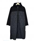 INDIVI()の古着「マルチタフタ中綿コート」|ブラック