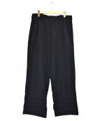YohjiYamamoto pour homme(ヨウジヤマモトプールオム)の古着「90sウールギャバイージーワイドパンツ」 ブラック