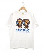 A BATHING APE(エイプ)の古着「ベイビーミロプリントTシャツ」|ホワイト