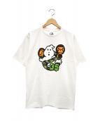A BATHING APE × GHOSTBUSTERS(アベイシングエイプ×ゴーストバスターズ)の古着「ベイビーミロTシャツ」|ホワイト
