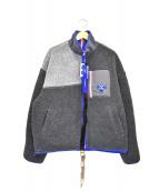 ADER error(アーダーエラー)の古着「カラーブロックジャケット」|ブルー×グレー