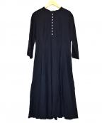 GRANDMA MAMA DAUGHTER(グランマママドーター)の古着「リネン混シャツワンピース」|ネイビー
