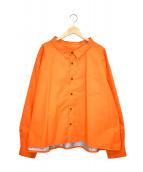 ()の古着「ナイロンシャツジャケット」 オレンジ