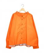whowhat(フーワット)の古着「ナイロンシャツジャケット」|オレンジ