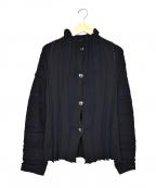 慈雨(ジウ)の古着「デザインカーディガン」|ブラック