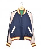 Soe(ソーイ)の古着「サテンスーベニアジャケット」 マルチカラー