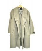 HARE(ハレ)の古着「ショールカラーウールコート」|グレー