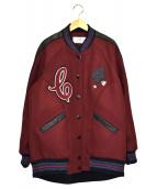 COACH(コーチ)の古着「ボーイフレンドバーシティジャケット」|ボルドー