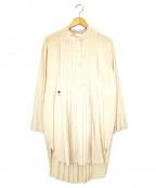 Christian Dior()の古着「プリーツビー刺繍ワンピース」 ライトピンク
