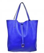 AMACA(アマカ)の古着「メタリックトートバッグ」 ライトグレー×ブルー