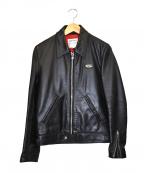 Lewis Leathers(ルイスレザース)の古着「シングルレザージャケット」 ブラック
