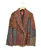 HaaT(ハート)の古着「ウールパッチワークジャケット」 ブラウン