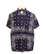 BEDWIN(ベドウィン)の古着「ペイズリーS/Sシャツ」 ネイビー