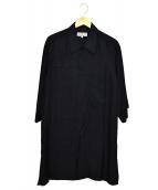 YohjiYamamoto pour homme(ヨウジヤマモトプールオム)の古着「先染めパッチワーク七分袖シャツ」 ネイビー