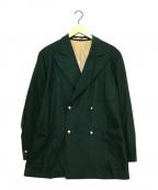 HAVERSACK(ハバーサック)の古着「金釦ダブルブレストジャケット」 グリーン