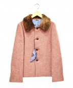 45rpm()の古着「ムートンカラーウールジャケット」 レッド