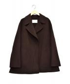 BALLSEY(ボールジィ)の古着「プレミアムウールリバーベルテッドショートコート」|ブラウン