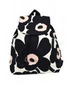 marimekko(マリメッコ)の古着「キャンバスリュック」|ブラック×ピンク