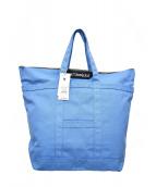 marimekko(マリメッコ)の古着「ビックキャンバストートバッグ」|ブルー