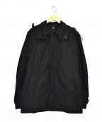 BURBERRY BRIT(バーバリーブリット)の古着「ノバチェックライナー付ハーフステンカラーコート」|ブラック