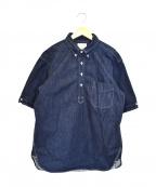 BONCOURA(ボンクラ)の古着「デニムフ半袖ルオーバーシャツ」|インディゴ