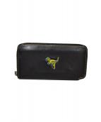 COACH(コーチ)の古着「ラウンドファスナー長財布」|ブラック