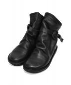Trippen(トリッペン)の古着「レザーデザインブーツ」|ブラック