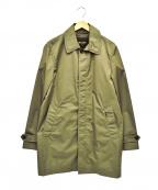 MOORER(ムーレー)の古着「ナイロンステンカラーコート」 オリーブ