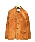 CALEE(キャリー)の古着「カウレザスウェードジャケット」|ブラウン