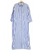L'appartement(アパルトモン)の古着「ストライプシャツワンピース」 ホワイト×ブルー