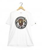 A BATHING APE(エイプ)の古着「プリントTシャツ」|ホワイト