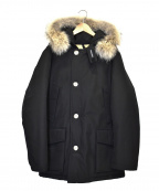 WOOLRICH()の古着「ファー付ダウンコート」 ブラック