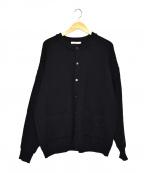 yashiki(ヤシキ)の古着「ヒョウモンカーディガン」|ブラック